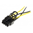 Adaptador Startech 2X Sata Macho / PCIE 8P Hembra