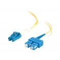 Cable C2G Fibra Optica 2 LC / 2 SC 9/125 1M Yellow
