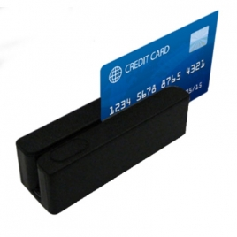 Lector Banda Magnetica MSR123 3P USB Black