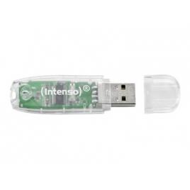 Memoria USB Intenso 32GB Rainbow Line Transparente