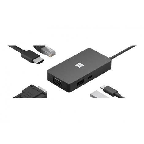 Puerto Replicador USB-C Microsoft HDMI + RJ45 + VGA + USB 3.1 + USB-C