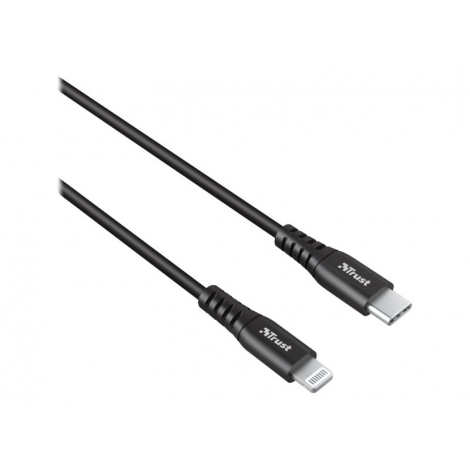 Cable Trust Lightning Macho / USB-C Macho 1M Black