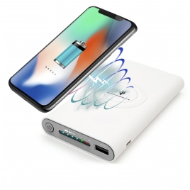 Bateria Externa Universal QI Unotec 10.000MAH White
