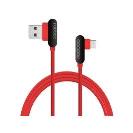 Cable Unotec USB 2.0 Macho / USB-C Macho 1M Acodado red