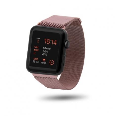 Correa Unotec para Apple Watch 38/40MM Metal Mesh Rose Gold