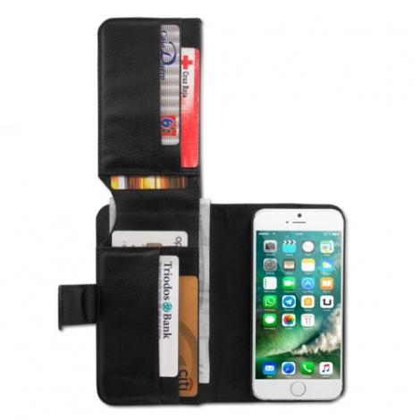 Funda Movil Flip Cover Unotec Billetero Black para iPhone 7 / 8 / se