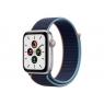 Apple Watch Serie se GPS + 4G 44MM Silver Aluminium + Correa Sport Loop Deep Navy