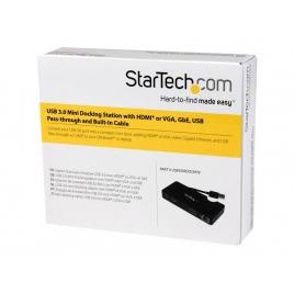 Puerto Replicador USB 3.0 Startech HDMI + RJ45 + VGA + USB 3.0