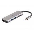 Puerto Replicador USB-C D-LINK HDMI + 2Xusb 3.0 + SD + Micro SD
