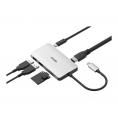 Puerto Replicador USB-C D-LINK HDMI + 2Xusb 3.0 + USB-C + SD + Micro SD