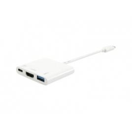 Puerto Replicador USB-C Equip HDMI + USB 3.0 + USB-C White