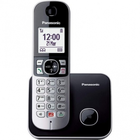 Telefono Inalambrico Panasonic KX-TG6851P Black