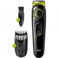 Recortadora de Barba Braun BT3221 Wireless 20 Ajustes Black / Green