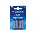 Pila Alcalina Verbatim Premium Tipo C Pack 2