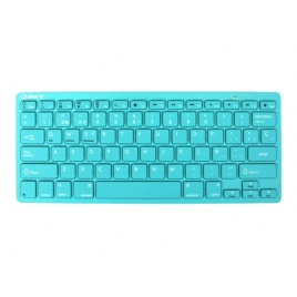Teclado Silver HT Bluetooth Color Edition Turquoise Smart TV Android IOS