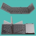 Teclado Silver HT Bluetooth Plegable Touchpad Grey