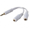 Cable Kablex Audio Jack 3.5 Macho / 2X Jack 3.5MM Hembra