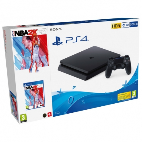 Consola Sony PS4 Slim 500GB + NBA 2K22