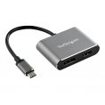 Puerto Replicador USB-C Startech HDMI + DP Grey
