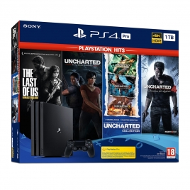 Consola Sony PS4 PRO 1TB + THE Last OF US + Uncharted Collection