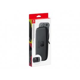 Funda Nintendo Switch Case Grey + Protector Pantalla