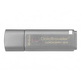 Memoria USB 3.0 Kingston 64GB Data Traveler Locker+ G3 Cifrado