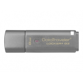 Memoria USB 3.0 Kingston 8GB Data Traveler Locker+ G3 Cifrado