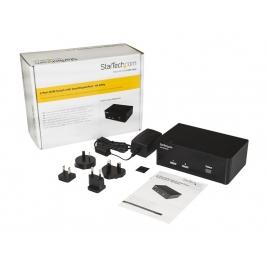Conmutador KVM Startech 2X1 MON DP, TEC, RA USB