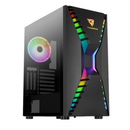 Caja Mediatorre ATX Thunderx3 Cronus RGB Black USB 3.0