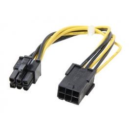 Adaptador Kablex PCIE 6P Macho / PCIE 6P Hembra