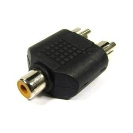 Adaptador Kablex RCA Hembra / 2X RCA Macho