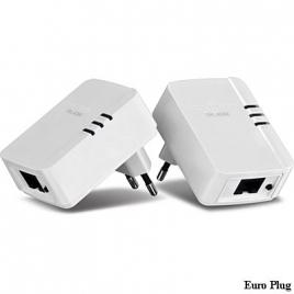 Adaptador PLC Trendnet Homeplug Powerline TPL-406E2K 500MPS Nano KIT 2U