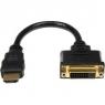 Adaptador Startech HDMI 19 Macho / DVI 21+1 Hembra 0.20M