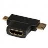 Adaptador Startech HDMI Hembra / Micro HDMI Macho / Mini HDMI Macho