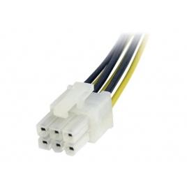 Adaptador Startech PCIE 6P Macho / 2X PCIE 6P Hembra