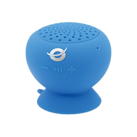 Altavoz Bluetooth Conceptronic Impermeable 3W con Ventosa Blue