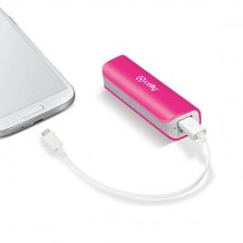 Bateria Externa Universal Celly 2.600MAH USB Pink