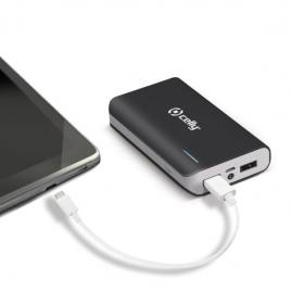Bateria Externa Universal Celly 6.000MAH USB Black
