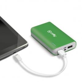 Bateria Externa Universal Celly 6.000MAH USB Green