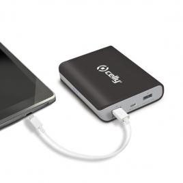 Bateria Externa Universal Celly 8.000MAH 2.1A USB Black