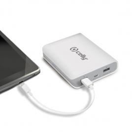 Bateria Externa Universal Celly 8.000MAH 2.1A USB White
