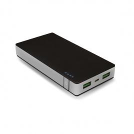 Bateria Externa Universal Celly Premium 10.000MAH 2.4A USB Black/Silver