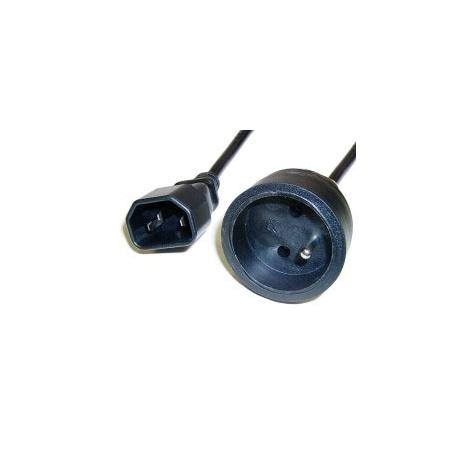 Cable Kablex Alimentacion C14 / red Schuko Hembra 0.4M