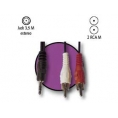 Cable Kablex Audio Jack 3.5MM Macho / 2X RCA Macho 3M