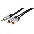 Cable Kablex Audio Jack 3.5MM Macho / 2X RCA Macho 5M Premium