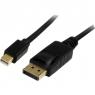 Cable Startech Mini DisplayPort Macho / DisplayPort Macho 2M Black