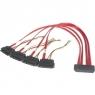 Cable Startech SAS SFF-8484 / 4X SFF-8482 29P + Alimentacion LP4