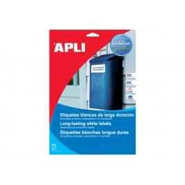 Caja Etiquetas Apli Transparentes 48.5X25.4 20H 880 Etiquetas