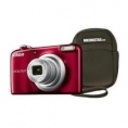 Camara Digital Nikon Coolpix A10 red + Funda