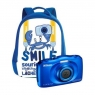 Camara Digital Nikon Coolpix W100 + Mochila 13.2 Mpixel 3X Zoom Acuatica Blue
